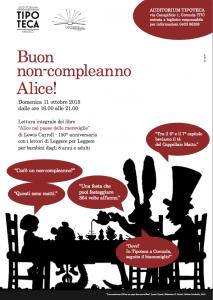 Buon non-compleanno Alice @ Auditorium Tipoteca, Cornuda (TV)