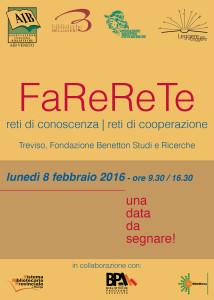 FaReReTe convegno @ Treviso, Fondazione Benetton Studi Ricerche