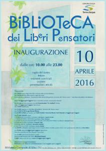Biblioteca dei liberi pensatori Silea Locandina inaugurazione