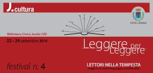 copertina del pieghevole del festival n. 4 di Leggere per Leggere