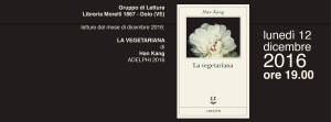 La vegetariana - GdL @ Dolo (VE), Libreria Morelli 1867