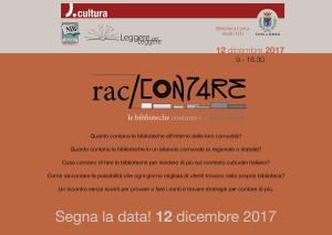 SEGNA LA DATA 12 dicembre 2017