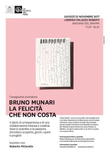 Bruno Munari: La Felicità Che Non Costa @ Libreria di Palazzo Roberti | Bassano del Grappa | Veneto | Italia