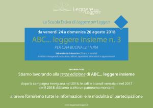 ABC... leggere insieme n. 3 - Informazioni e programma @ Limana (BL), B&B Valbelluna