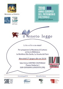 Libròforo in vista! @ San Giovanni Lupatoto (VR), Centro Culturale