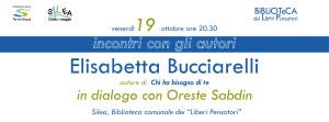 Incontri con l'autore: Elisabetta Bucciarelli @ Silea (TV), Biblioteca Comunale dei
