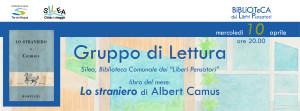 "Lo straniero. GdL Silea @ Silea (TV), Biblioteca Comunale dei ""Liberi Pensatori"""