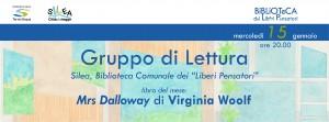 Mrs Dalloway. GdL Silea @ Silea (TV), Biblioteca Comunale dei