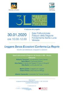 Leggere Senza Eccezioni Conferma la Regola @ Venezia, Sala Polifunzionale, Palazzo della Ragione