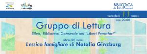 """Lessico famigliare - GdL Silea @ Silea (TV), Biblioteca Comunale dei """"Liberi Pensatori"""""""