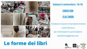 Le Forme dei Libri @ Venezia, Fondazione Querini Stampalia