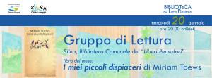 I miei piccoli dispiaceri - GdL Silea @ evento online, Biblioteca Comunale Silea (TV)